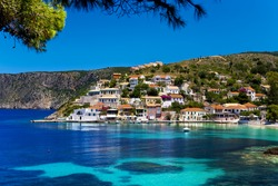Greece. Ionian Islands - Cephalonia (Kefalonia). Asos (Assos), small rustic village on the west coast of the island