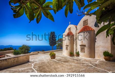 greece  island crete  preveli...