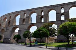 Greece, Kavala, medieval aqueduct Kamares