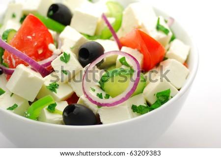 Greece salad - stock photo