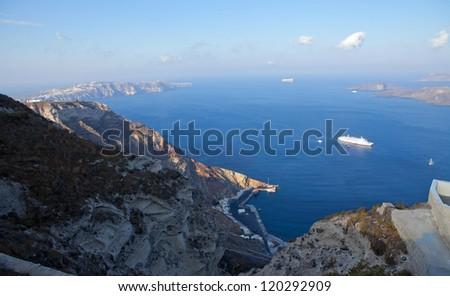 greece, santorini island.Caldera view is summer