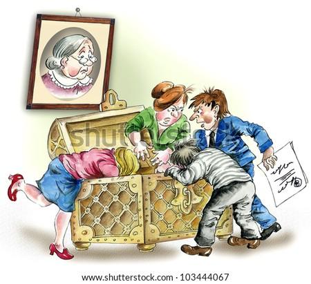 Greedy heirs fighting over grandmother`s inheritance