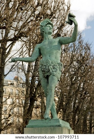 greek actor by A Bourgeois sculpture of the 19 century