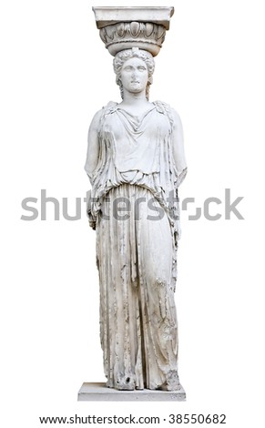 Greek Caryatid or column in a female form
