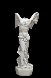 Greek classical statue of 'Nike' from Samothrace or 'Winged Victory'