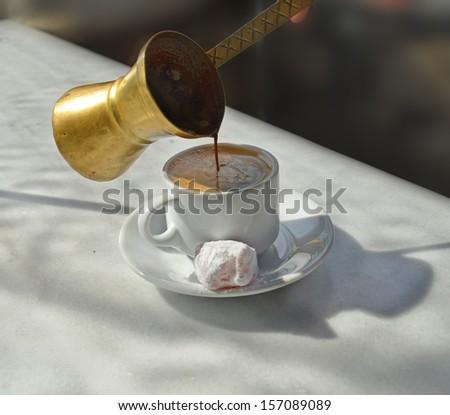 Greek coffee coffee pot delight