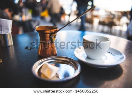 Greek Coffee in a Cafe