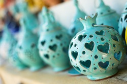 Greek colorful ceramics