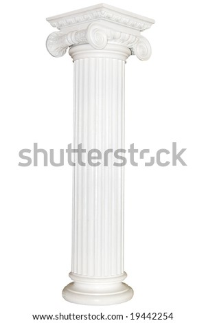 Greek column, isolated on white