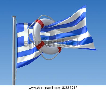 Greek crisis concept