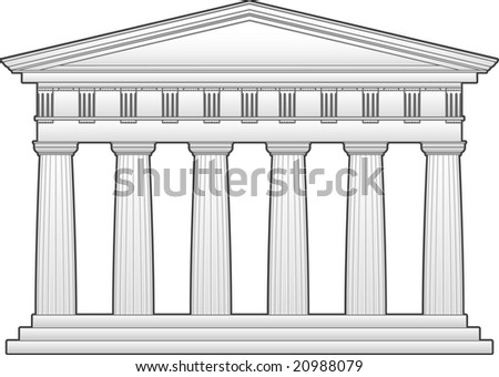 Greek Doric Temple Stock Photo 20988079 : Shutterstock