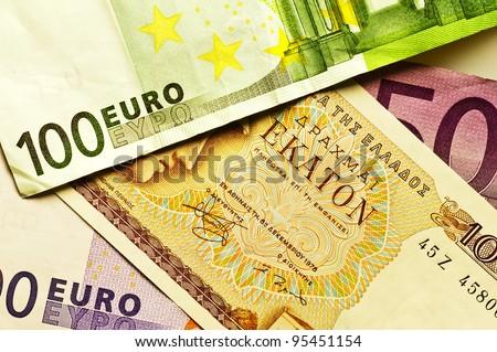 greek drachma - stock photo