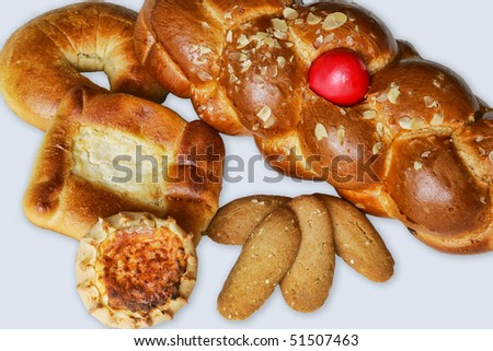 Greek Easter bread and cakes.