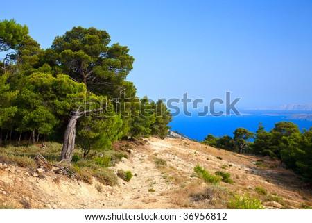 Greek landscape taken on Poros, Greece, 2009 #36956812