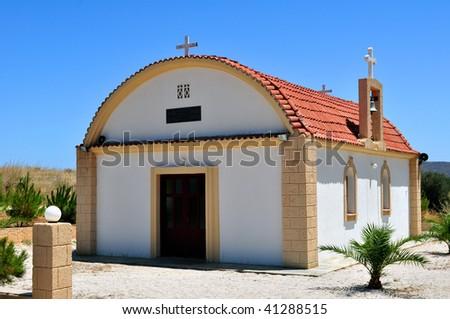 Greek orthodox chapel in the island of Crete, Greece.
