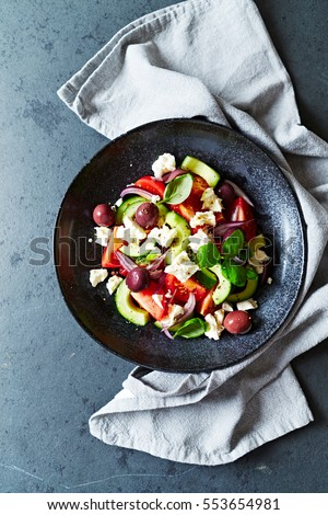 Greek Salad #553654981