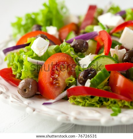 Greek Salad - stock photo