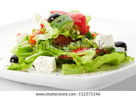 Greek Salad (Feta Cheese,  Olive and Vegetables)