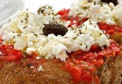 Greek Salad from Crete greece close up