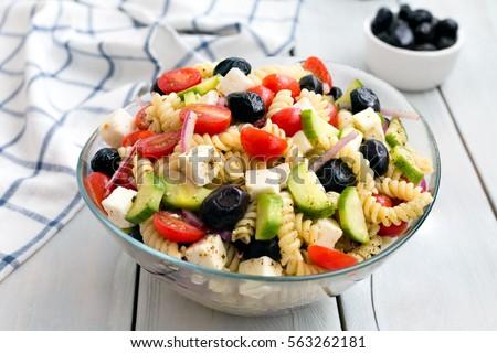 Greek Salad with Pasta