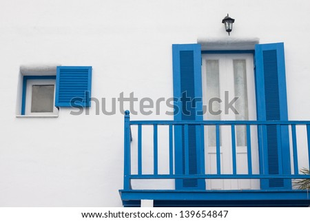 Greek Style windows and building
