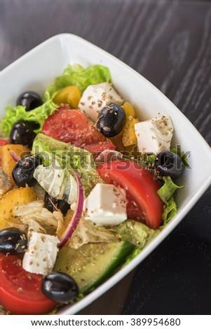 Greek tasty salad #389954680