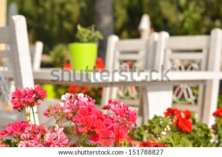 Greek tavern concept - stock photo