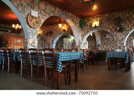 Greek tavern in Larnaca Cyprus.