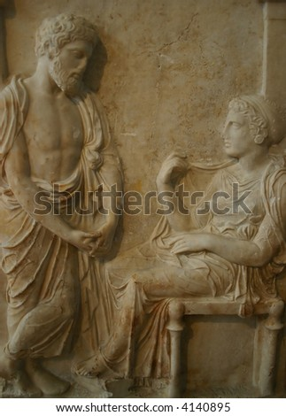 Greek tombstone of ancient Greece