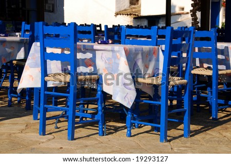 Greek touristic crisis - empty restaurants