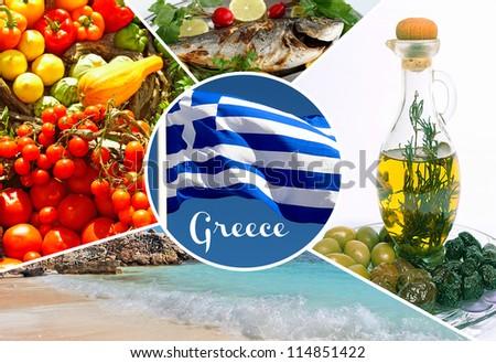 Greek traditional food - stock photo