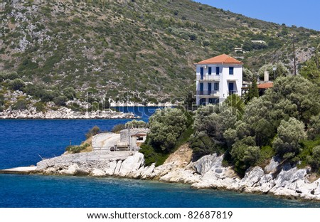 Greek traditional house at Ithaki island of Greece