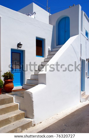 Greek traditional house located at Santorini island
