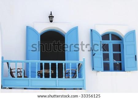 Greek window and balcony