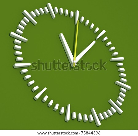 Green Abstract Clock