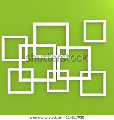 green abstract 3D geometrical design