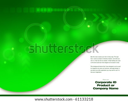 Green Abstract Design artwork,  Design  template ready for web page design, brochures, books, banners, stationary or Press Kits
