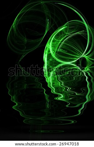 stock photo green abstract fire black background illustration 26947018 Green Fire Wallpaper