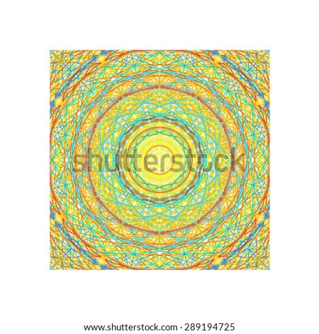 green abstract painting in kaleidoscope pattern/green kaleidoscope abstract painting/green abstract painting in kaleidoscope pattern for background