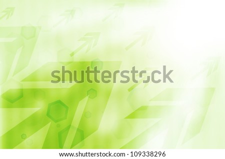 green abstract technology background.
