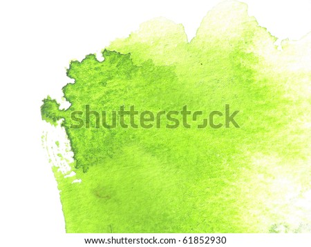 green abstract watercolor background design