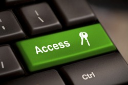 Green access enter key and keys icon.