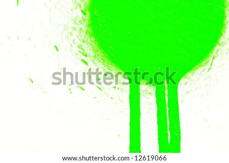 Green airbrush paint