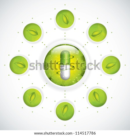 Green alternative medication concept - Medical background