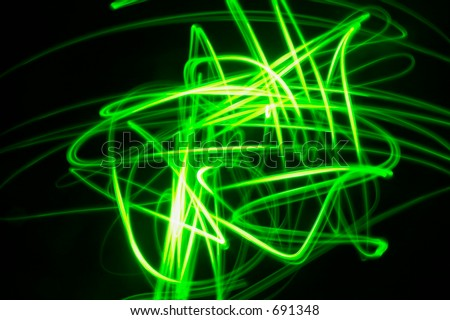Green and black psychedelic background