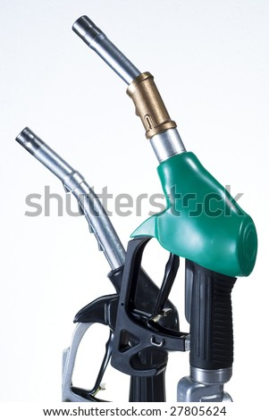 Green and black refueling pipes for gas