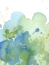 green and blue abstract watercolor background