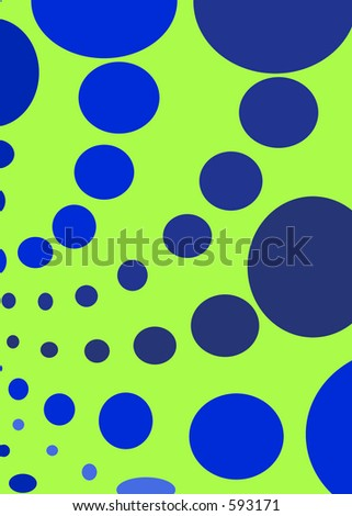 Green and blue circles background - stock photo