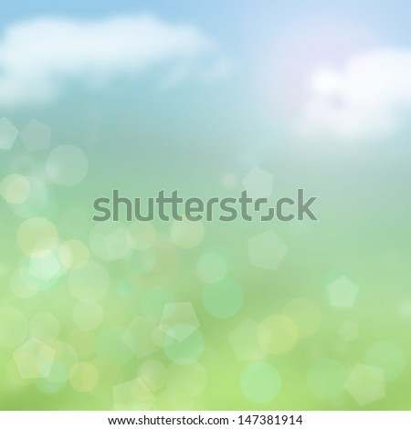 Green and Blue Spring Background