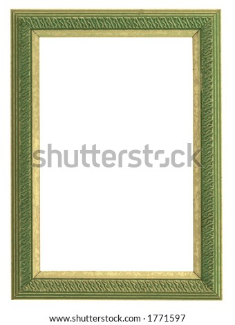 green and gold frame